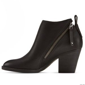 DV Jameson Black Double Zip Booties